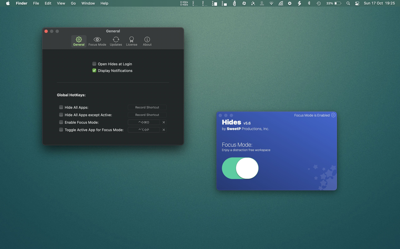 Hides Mac破解版 一键隐藏所有应用窗口-麦氪派(WaitsUn.com | 爱情守望者)